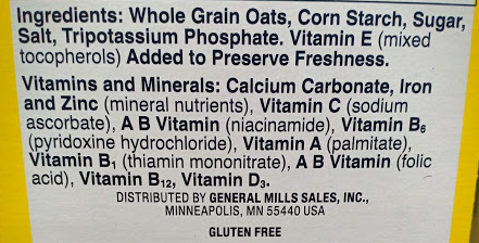 Original Cheerios Ingredients